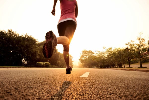 Healthy lifestyle fitness sports woman running.
